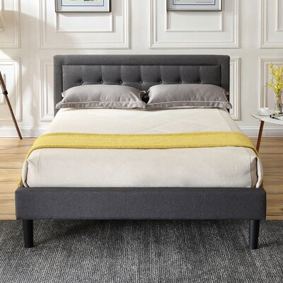 Pinheiro Upholstered Platform Bed Color: Gray, Size: Full/Double