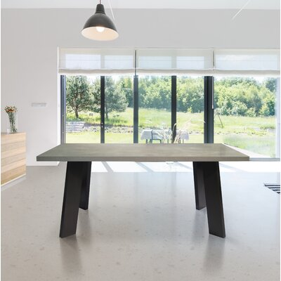 Randle Dining Table Base Color / Top Color: Black Oak / Cement