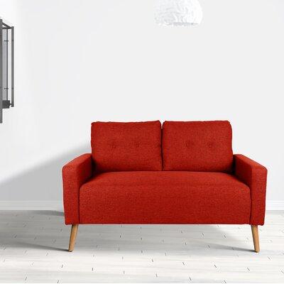 Ramsdell Mid Century Modern Loveseat Upholstery : Maple