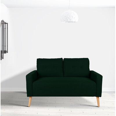 Ramsdell Mid Century Modern Loveseat Upholstery : Spruce