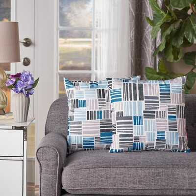 Swilley Patterned Square Indoor/Outdoor Throw Pillow