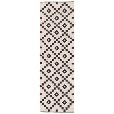 Campbelltown Ivory/Black Area Rug Rug Size: Rectangle 8 x 10