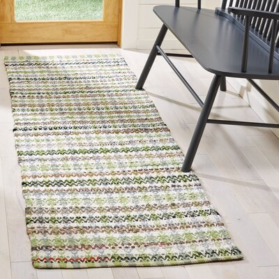 Ingleside Hand-Woven Green/Gray Area Rug Rug Size: Runner 23 x 8