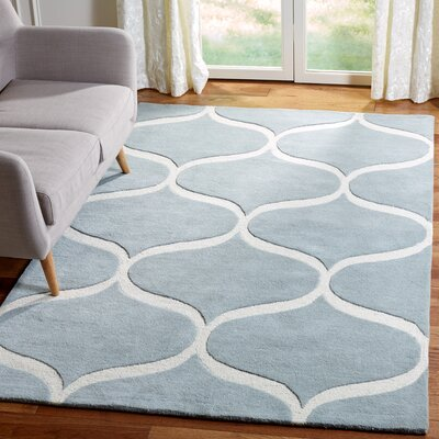 Martins Hand-Tufted Gray/Ivory Area Rug Rug Size: Rectangle 5 x 8