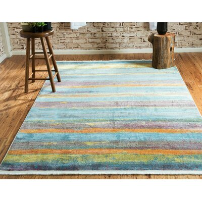 Purington Gray Area Rug Rug Size: Runner 22 x 6