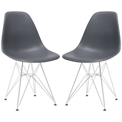 Rafael Contemporary Side Chair Upholstery: Grey