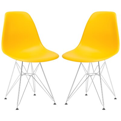 Rafael Contemporary Side Chair Upholstery: Yellow