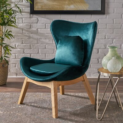 Ohearn Side Chair Upholstery: Teal