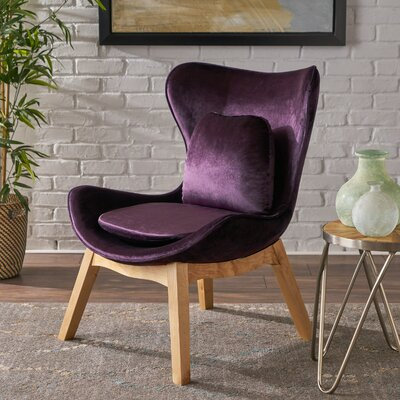 Ohearn Side Chair Upholstery: Blackberry