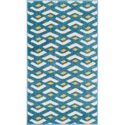 Petrina Blue Area Rug Rug Size: Rectangle 22 x 39