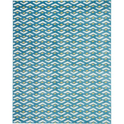 Petrina Blue Area Rug Rug Size: Rectangle 8 x 10