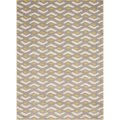 Petrina Gray Area Rug Rug Size: Rectangle 53 x 73