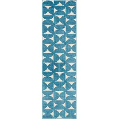 Petrina Blue Area Rug Rug Size: Rectangle 22 x 76