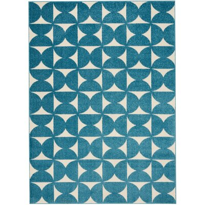 Petrina Blue Area Rug Rug Size: Rectangle 53 x 73