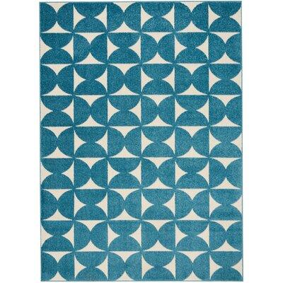 Petrina Blue Area Rug Rug Size: Rectangle 4 x 6