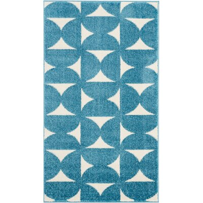 Petrina Blue Area Rug Rug Size: Rectangle 22 x 39
