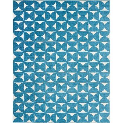 Petrina Blue Area Rug Rug Size: Rectangle 8 x 10