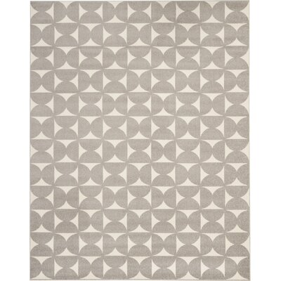 Petrina Gray Area Rug Rug Size: Rectangle 8 x 10