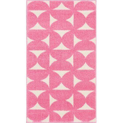 Petrina Pink Area Rug Rug Size: Rectangle 22 x 39