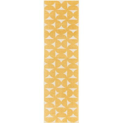 Petrina Yellow Area Rug Rug Size: Rectangle 22 x 76