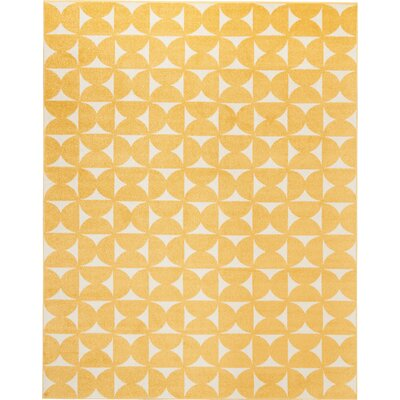 Petrina Yellow Area Rug Rug Size: Rectangle 8 x 10