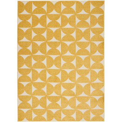 Petrina Yellow Area Rug Rug Size: Rectangle 53 x 73