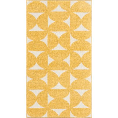 Petrina Yellow Area Rug Rug Size: Rectangle 22 x 39
