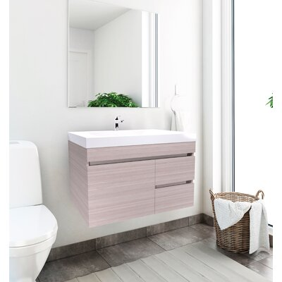 Byrns 31 Single Bathroom Vanity Set Base Finish: Latte