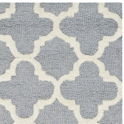 Martins Circle Silver & Ivory Area Rug Rug Size: Rectangle 3 x 5