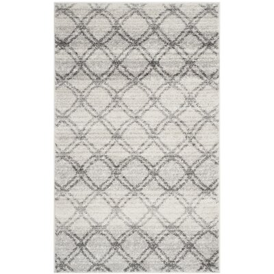 Schacher Silver/Charcoal Area Rug Rug Size: Rectangle 3 x 5