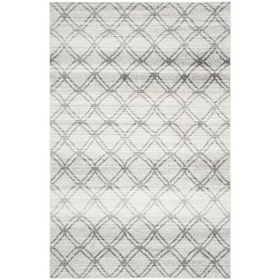 Schacher Silver/Charcoal Area Rug Rug Size: Rectangle 6 x 9