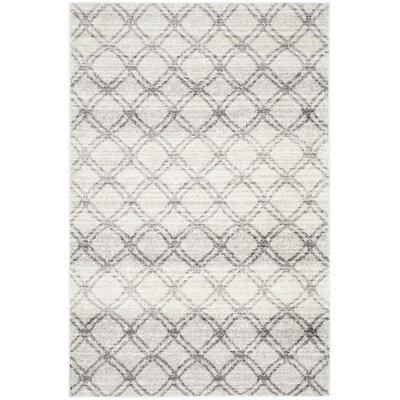 Schacher Silver/Charcoal Area Rug Rug Size: Rectangle 4 x 6