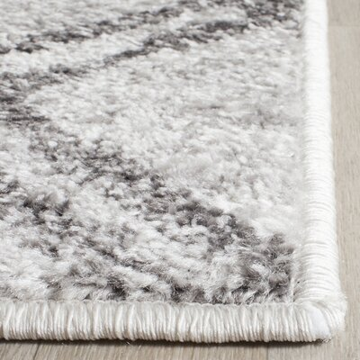 Schacher Silver/Charcoal Area Rug Rug Size: Rectangle 51 x 76