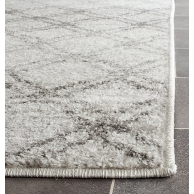 Schacher Silver/Charcoal Area Rug Rug Size: Runner 26 x 8