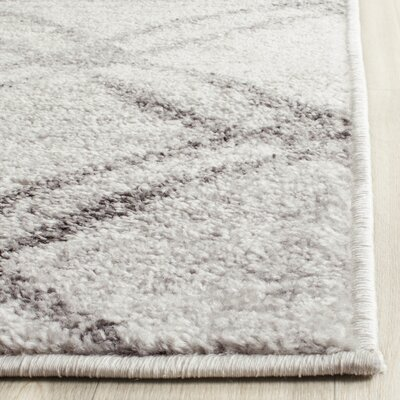 Schacher Silver/Charcoal Area Rug Rug Size: Rectangle 8 x 10