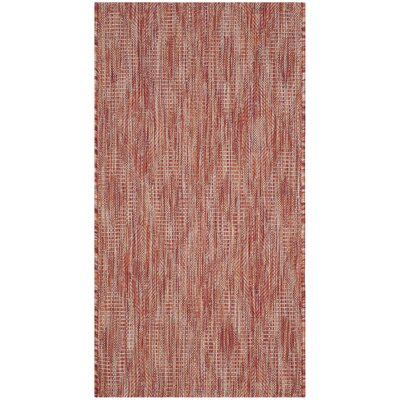Lefferts Red Indoor/Outdoor Area Rug Rug Size: Rectangle 2 x 37