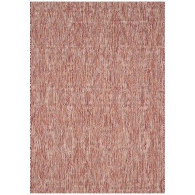 Lefferts Red Indoor/Outdoor Area Rug Rug Size: Rectangle 4 x 57