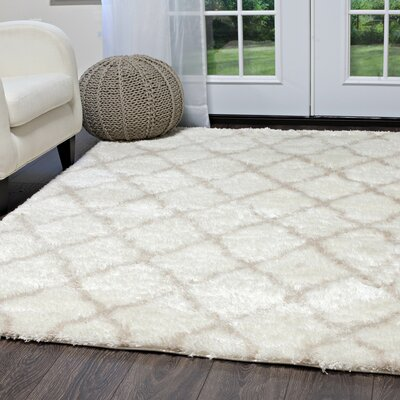 Salcedo Ivory/Taupe Area Rug Rug Size: 26 x 43