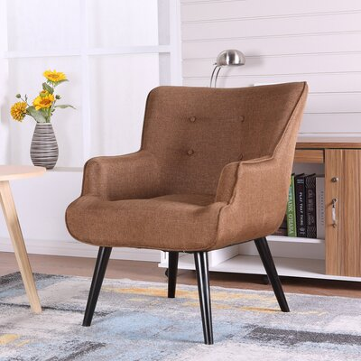Pontius Accent Wingback Chair Upholstery: Chocolate