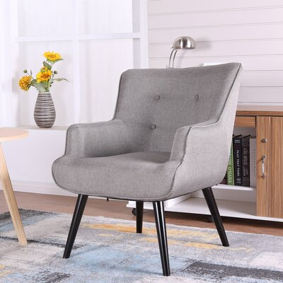 Pontius Accent Wingback Chair Upholstery: Gray