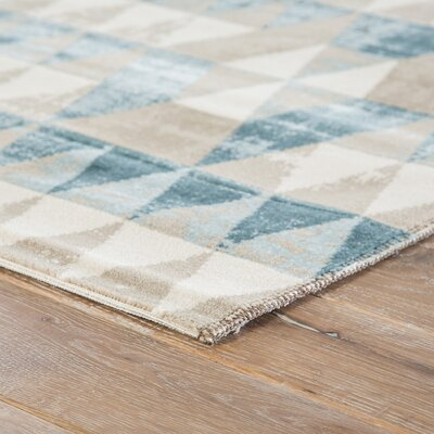 Langridge Whisper White/Oxford Tan Area Rug Rug Size: Rectangle 76 x 96