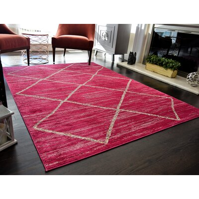 Mckinstry Tribal Fuschia Area Rug Rug Size: 5'3