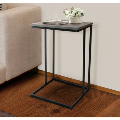 Perkinson Rustic C End Table Color: Gray Oak