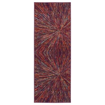 Heier Pink Area Rug Rug Size: Runner 18 x 411