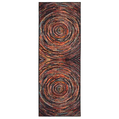 Heier Black/Red/Blue Area Rug Rug Size: Runner 23 x 6