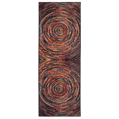 Heier Black/Red/Blue Area Rug Rug Size: Runner 23 x 6