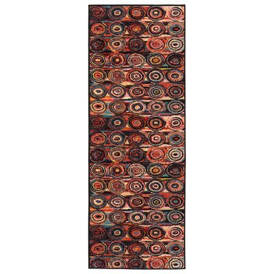 Heier  Black/Yellow/Aqua Blue/Ivory/Red Area Rug Rug Size: Runner 23 x 6