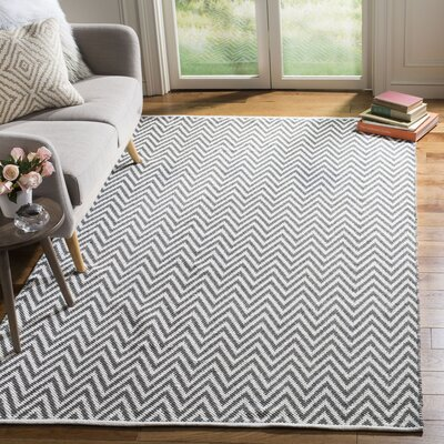 Whitton Hand-Woven Grey/Ivory Area Rug Rug Size: Rectangle 5 x 7
