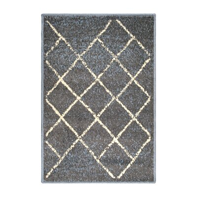 Verity Lattice Slate Area Rug Rug Size: Rectangle 2 x 3