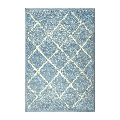Verity Lattice Blue Area Rug Rug Size: Rectangle 2 x 3